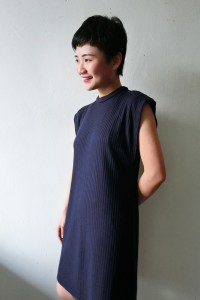 sleeveless tunic navy1