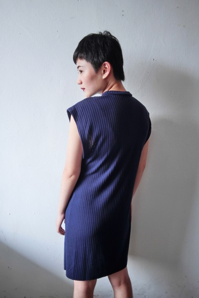 sleeveless tunic navy2