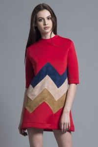 ZIGZAG A-LINE DRESS1